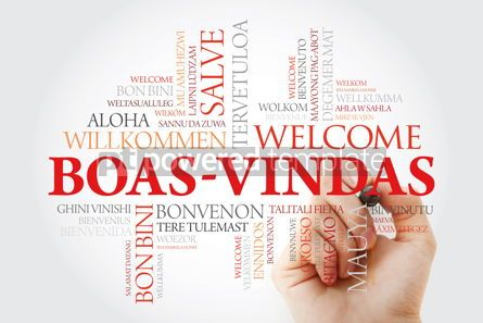 Business: Boas-Vindas (Welcome in Brazilian Portuguese) word cloud with ma #09939