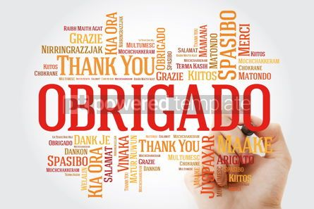 Business: Obrigado (Thank You in Portuguese) Word Cloud with marker all l #09946