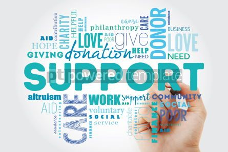 Business: Support word cloud collage with marker social concept backgroun #09951