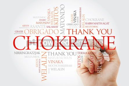 Business: Chokrane (Thank You in Arabic - Middle East North Africa) Word  #09956
