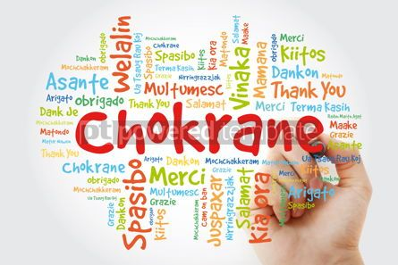 Business: Chokrane (Thank You in Arabic - Middle East North Africa) Word  #09957