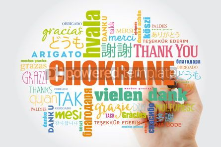 Business: Chokrane (Thank You in Arabic - Middle East North Africa) Word  #09958