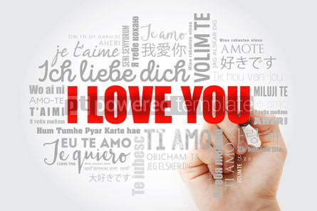 "Business: love words ""I love you"" with marker in all languages of the worl #09970"