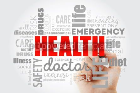 Health: HEALTH word cloud collage with marker concept background #09974