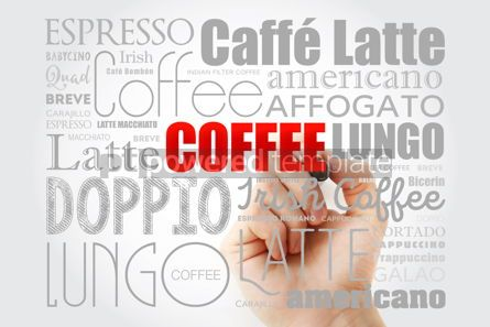 Food & Drink: List of coffee drinks words cloud collage with marker poster ba #09984