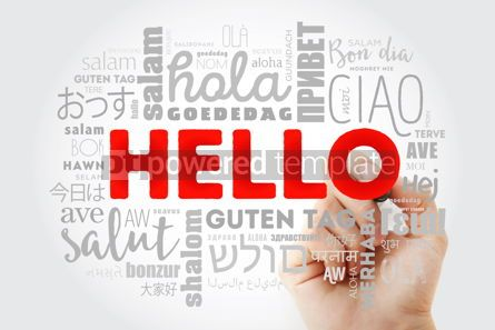 Business: Hello word cloud with marker in different languages of the world #09986