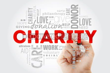 Business: Charity word cloud collage with marker business concept backgro #09987