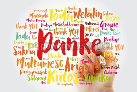 Business: Danke (Thank You in German) Word Cloud with marker all language #09995