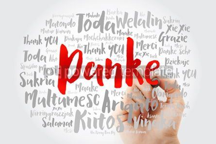 Business: Danke (Thank You in German) Word Cloud with marker all language #09996