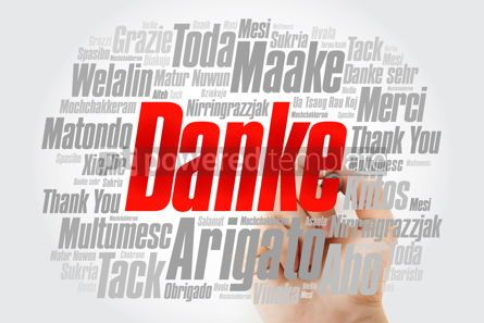 Business: Danke (Thank You in German) Word Cloud with marker all language #09997