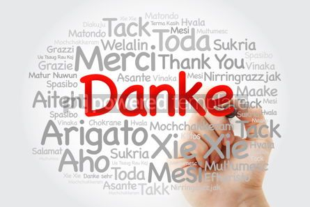 Business: Danke (Thank You in German) Word Cloud with marker all language #09998