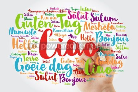 Business: Ciao (Hello Greeting in Italian) word cloud in different languag #10011