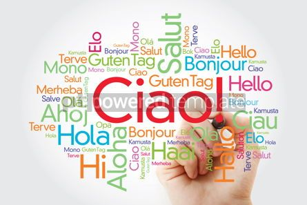 Business: Ciao (Hello Greeting in Italian) word cloud in different languag #10013