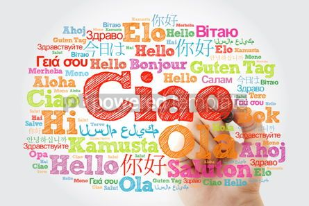 Business: Ciao (Hello Greeting in Italian) word cloud in different languag #10016