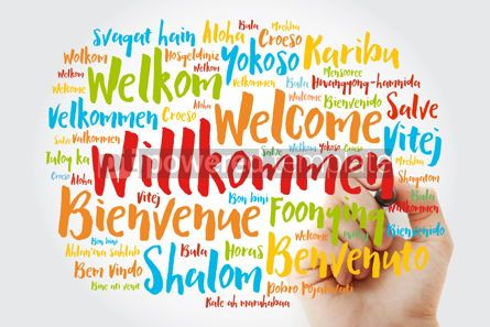 Business: Willkommen (Welcome in German) word cloud in different languages #10051