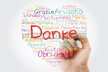 Business: Danke (Thank You in German) Love Heart Word Cloud in different l #10054