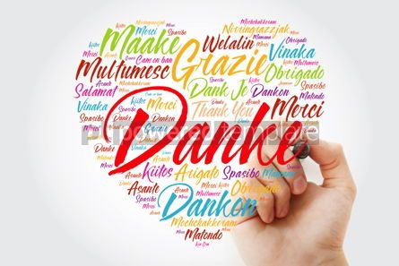 Business: Danke (Thank You in German) Love Heart Word Cloud in different l #10055