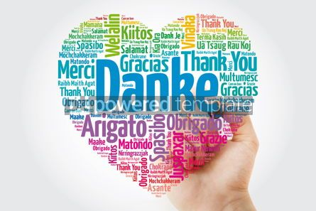 Business: Danke (Thank You in German) Love Heart Word Cloud in different l #10056