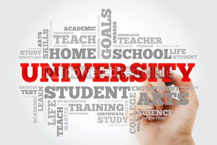 Business: University word cloud collage education concept background #10064