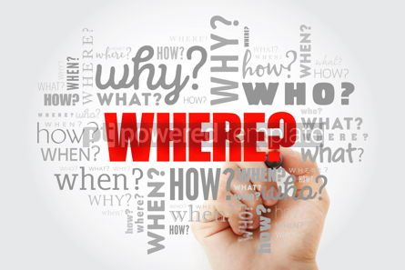 Business: Questions - When What Which Where Why How business concept #10065