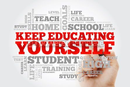 Business: Keep Educating Yourself word cloud collage education business c #10066