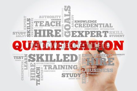 Business: Qualification word cloud education business concept background #10068