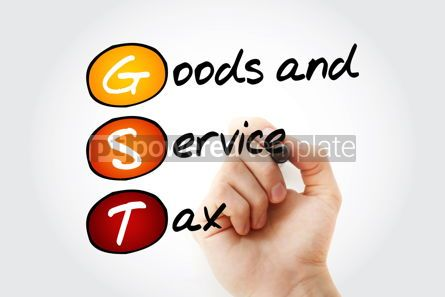 Business: GST - Goods and Service Tax acronym business concept background #10070
