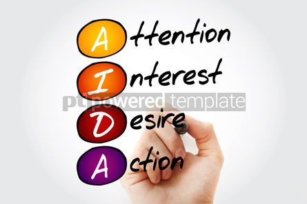 Education: AIDA - Attention Interest Desire Action acronym concept backgro #10073