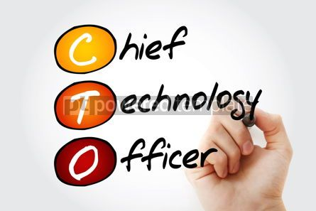 Business: CTO - Chief Technology Officer acronym concept background #10076