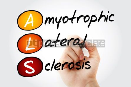 Education: ALS - Amyotrophic Lateral Sclerosis acronym health concept back #10078