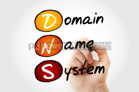Education: DNS - Domain Name System acronym technology concept background