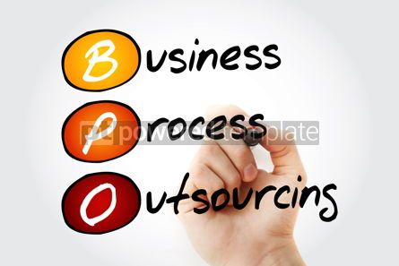 Business: BPO - Business Process Outsourcing acronym background