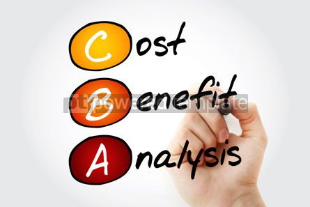 Business: CBA - Cost-benefit Analysis acronym business concept background #10085