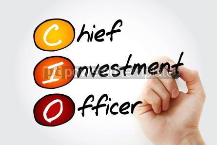 Business: CIO - Chief Investment Officer acronym business concept backgro #10086