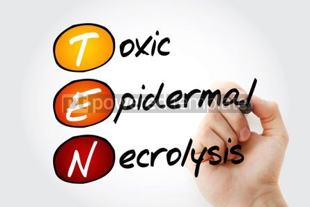 Education: TEN - Toxic Epidermal Necrolysis acronym health concept backgro #10087