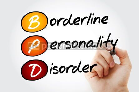 Education: BPD - Borderline Personality Disorder acronym health concept ba #10088