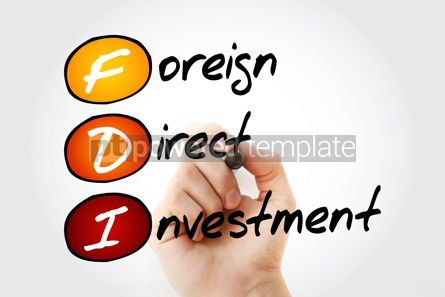 Business: FDI - Foreign Direct Investment acronym business concept backgr #10091