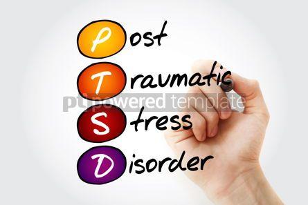 Education: PTSD - Posttraumatic Stress Disorder acronym concept background #10100