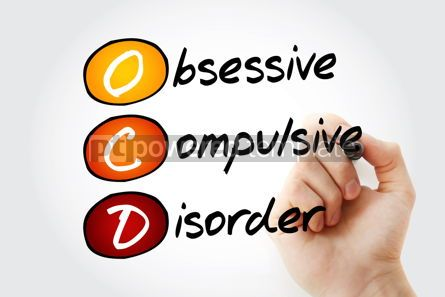 Education: OCD - Obsessive Compulsive Disorder acronym health concept back #10114