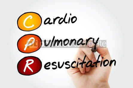 Education: CPR - Cardiopulmonary Resuscitation acronym health concept back #10117