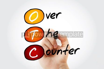Business: OTC - Over The Counter acronym background #10118