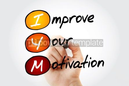 Business: IYM - Improve Your Motivation acronym concept background #10122