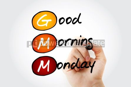 Business: GMM - Good Morning Monday acronym concept background #10123