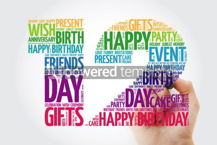 Education: Happy 12th birthday word cloud collage #10127