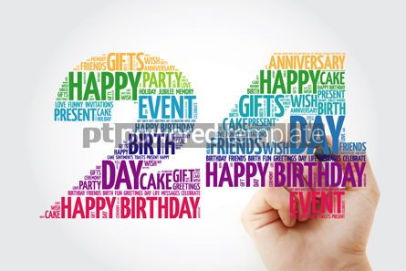Education: Happy 24th birthday word cloud collage #10132