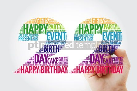 Education: Happy 22nd birthday word cloud collage #10134