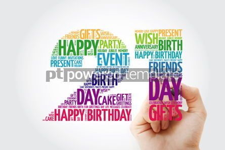 Education: Happy 21st birthday word cloud collage #10135