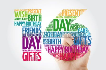 Education: Happy 16th birthday word cloud collage concept with marker #10139
