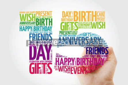 Education: Happy 15th birthday word cloud collage concept with marker #10140
