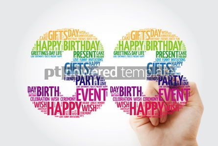 Education: Happy 33rd birthday word cloud collage concept #10145